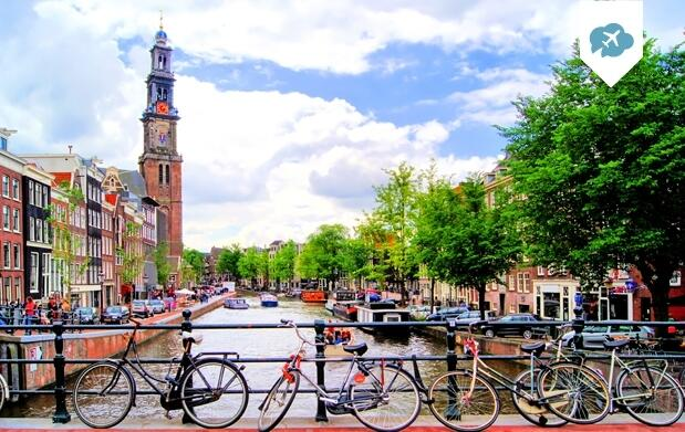 Amsterdam con Hotel flotante