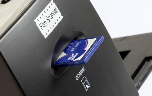Escáner para negativos y diapositivas USB y SD
