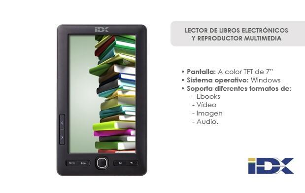 Lector de libros electrónicos de 7''