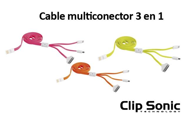 Cable USB Multiconector 3 en 1