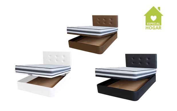 Canapé polipiel con base tapizada