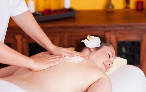 Peeling corporal para una piel radiante