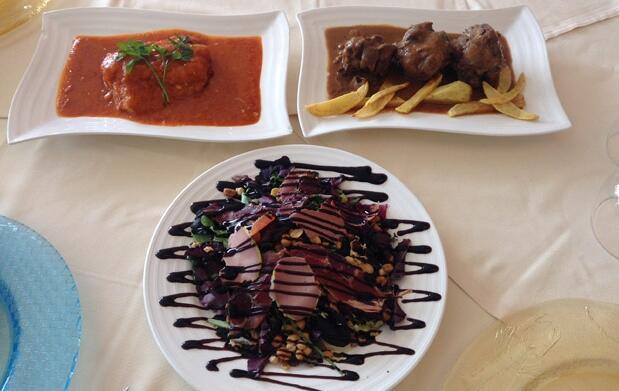 Completo menú de cocina castellana para 2