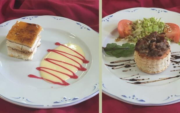 Excelente menú para dos personas