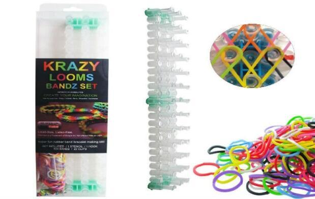 Set de gomas de colores para pulseras