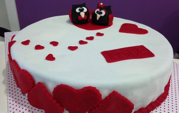 Taller de tartas fondant de San Valentín