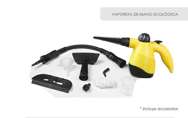 Vaporeta ecológica de mano + accesorios